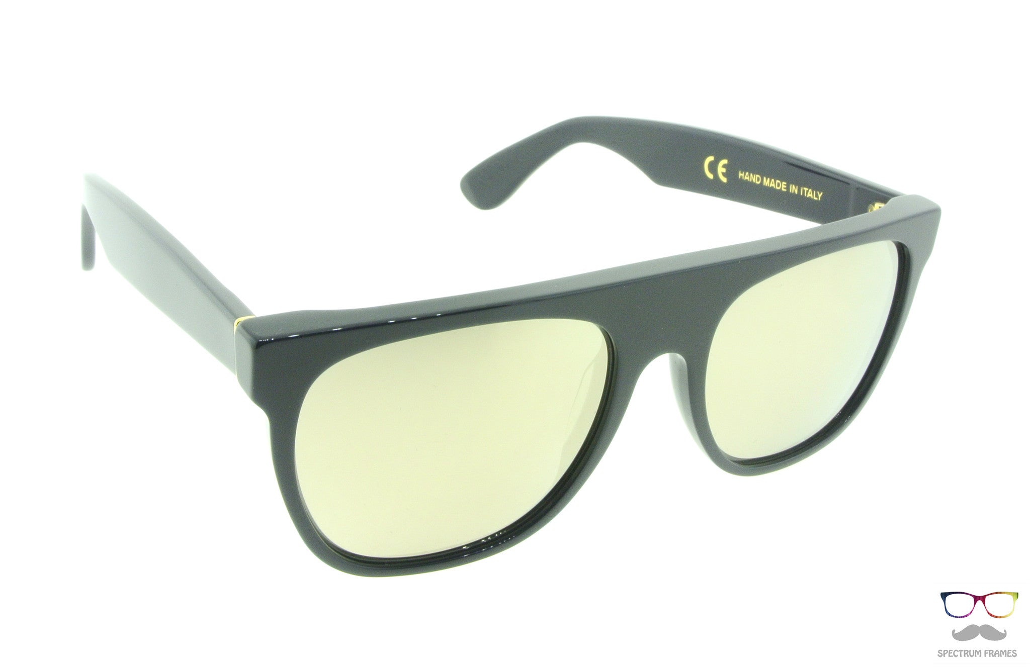 45416f6b82d ... RETROSUPERFUTURE Super Sunglasses Flat Top Specular A5J   Gold Mirror  Zeiss Lenses ...