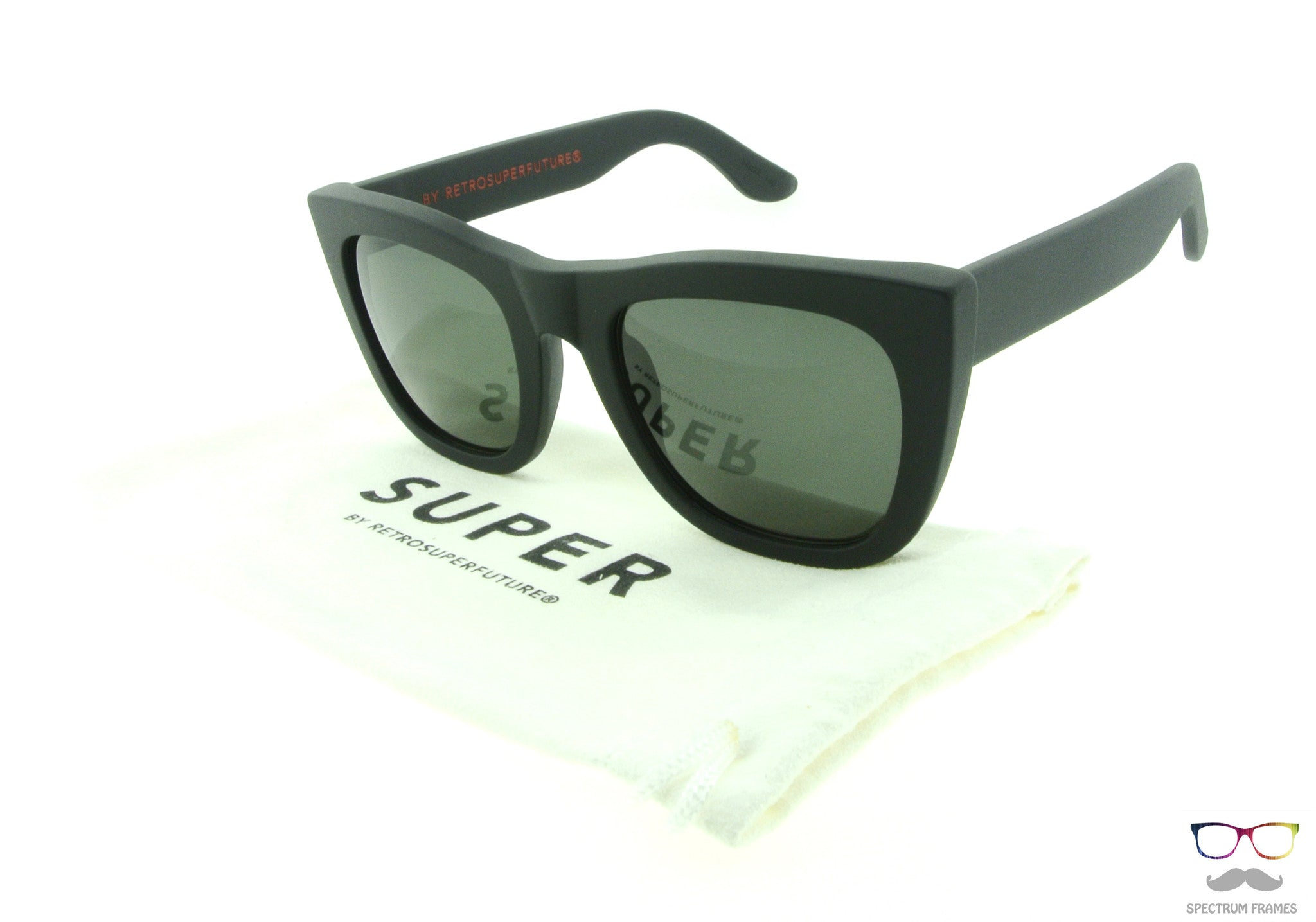 bb205da9809 ... RETROSUPERFUTURE Super Sunglasses Gals Black Matte 10J with Black Zeiss  Lenses ...