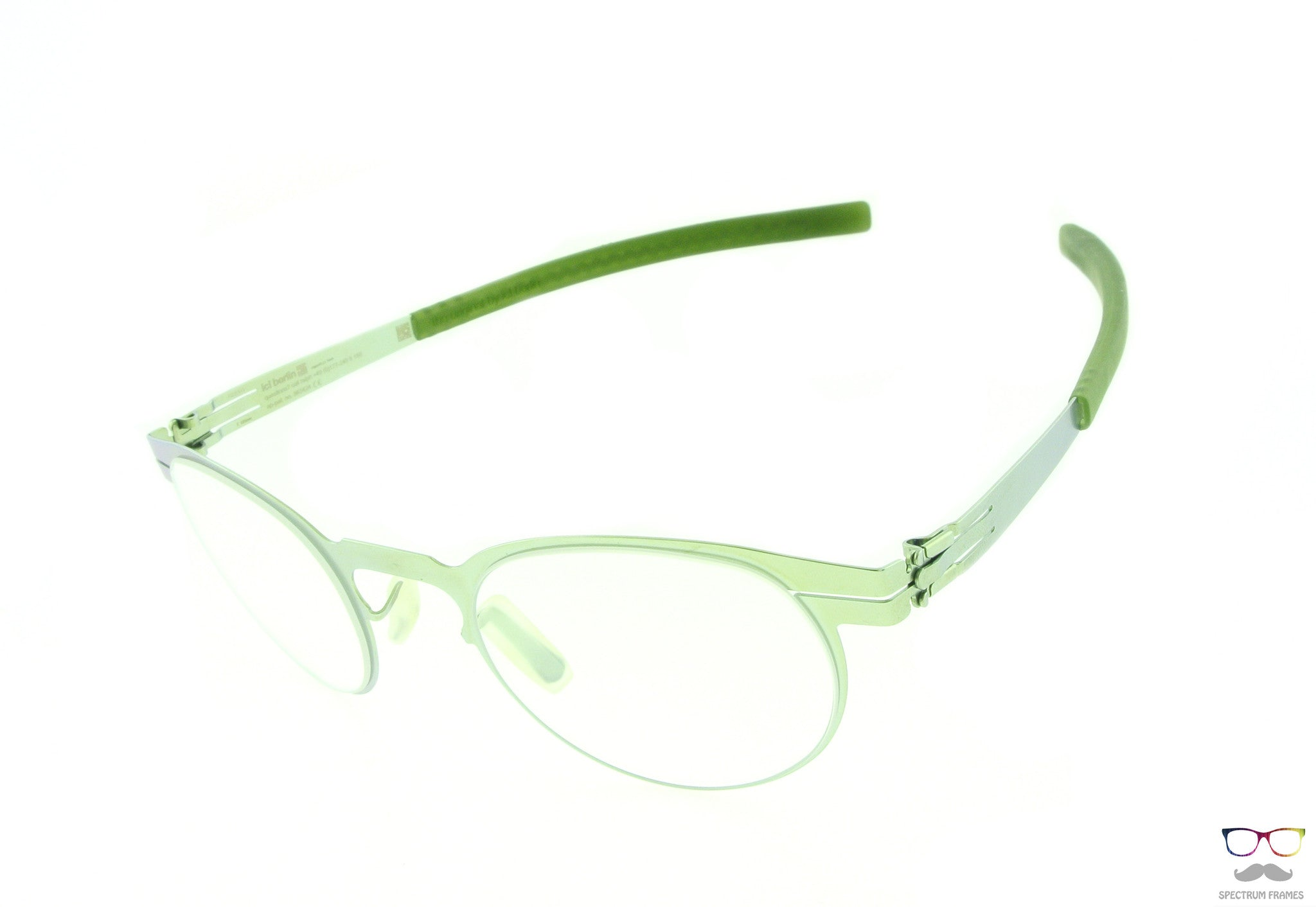 ic! berlin Eyeglasses Ofen Round Electric Light Olive Frames ...