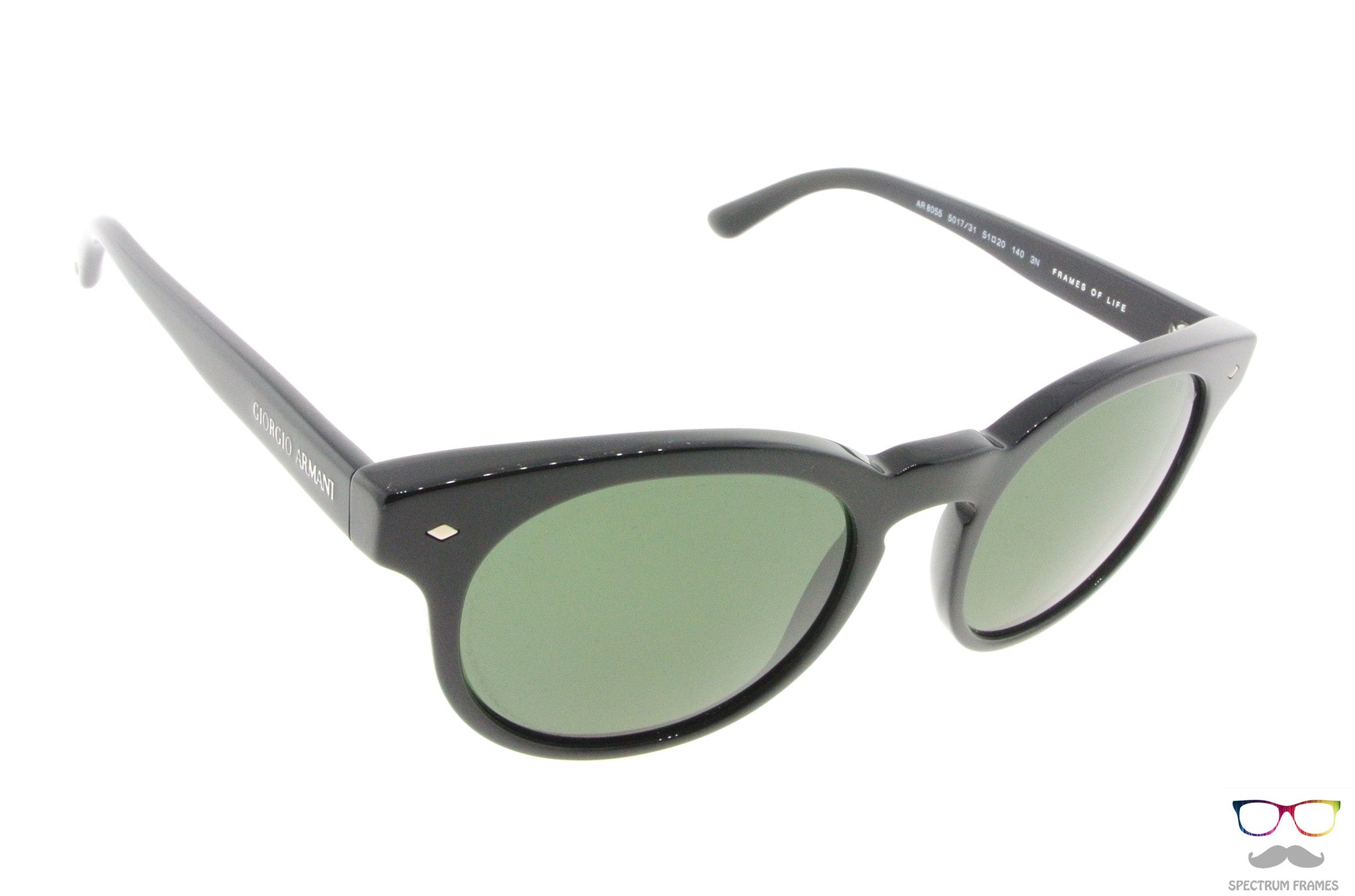 094924c1503 ... Giorgio Armani Sunglasses Model 8055 501731 Black with Green Lenses ...