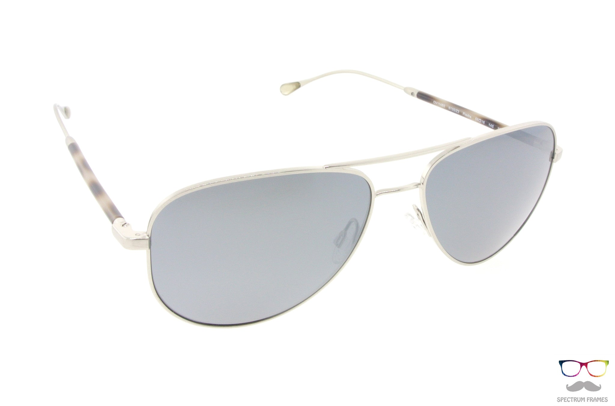 4e70bce8b8 Oliver Peoples Sunglasses Piedra 1148S 5135Z3 Silver with Black Polarized  Lenses