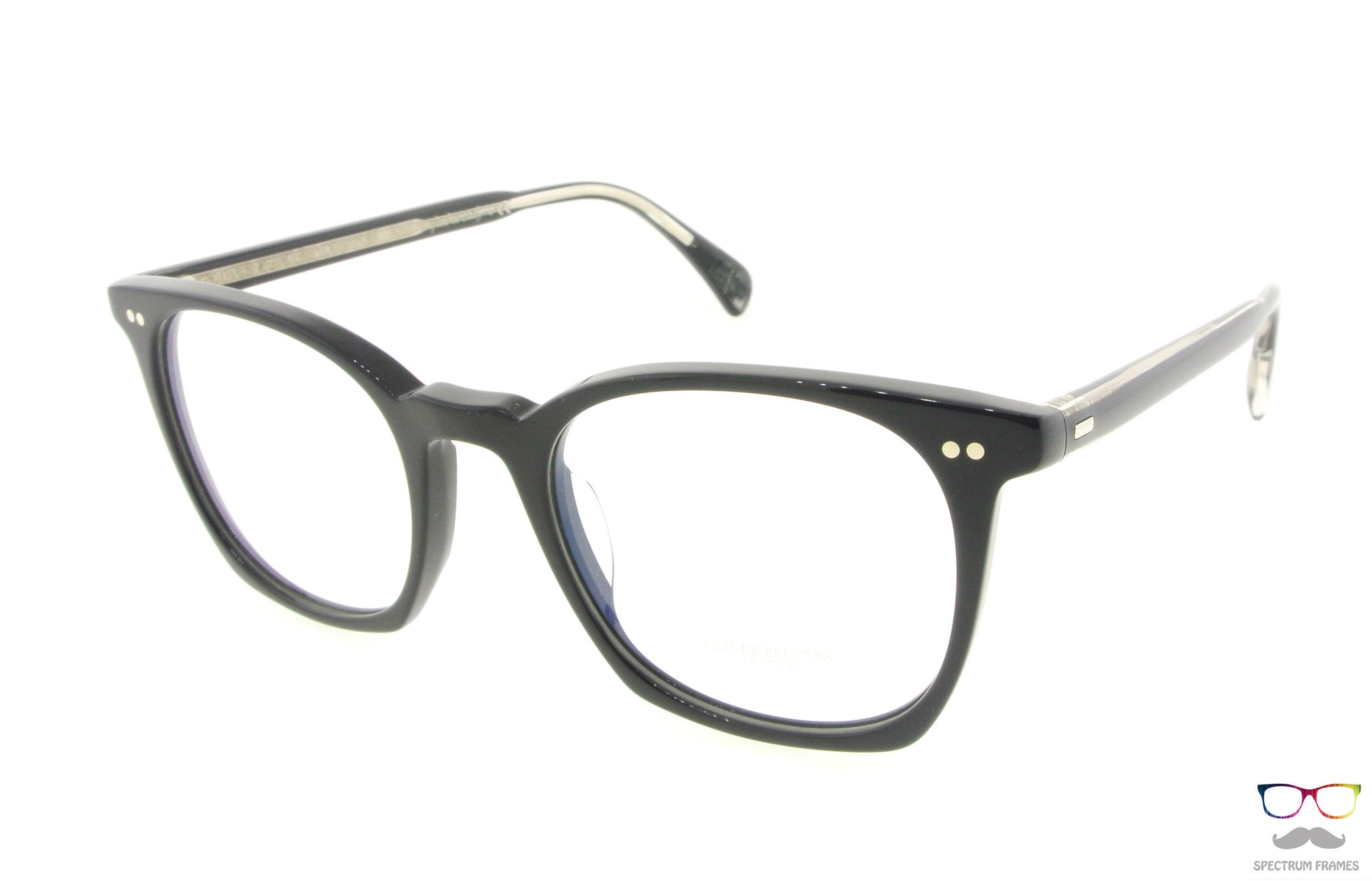 oliver peoples eyeglasses la coen 5297u 1492 polished black acetate frames