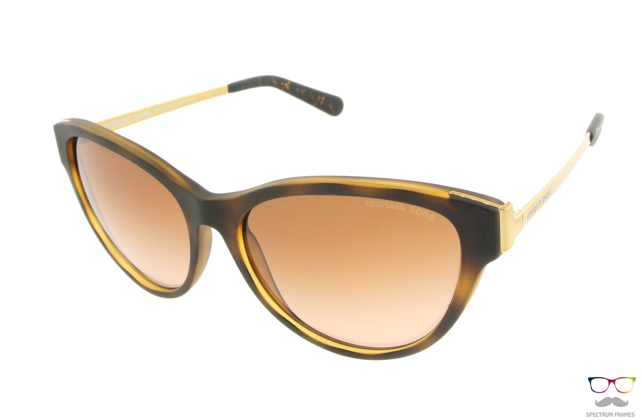 Michael Kors Sunglasses 6014 302113 Gold & Brown with Gradient Brown ...