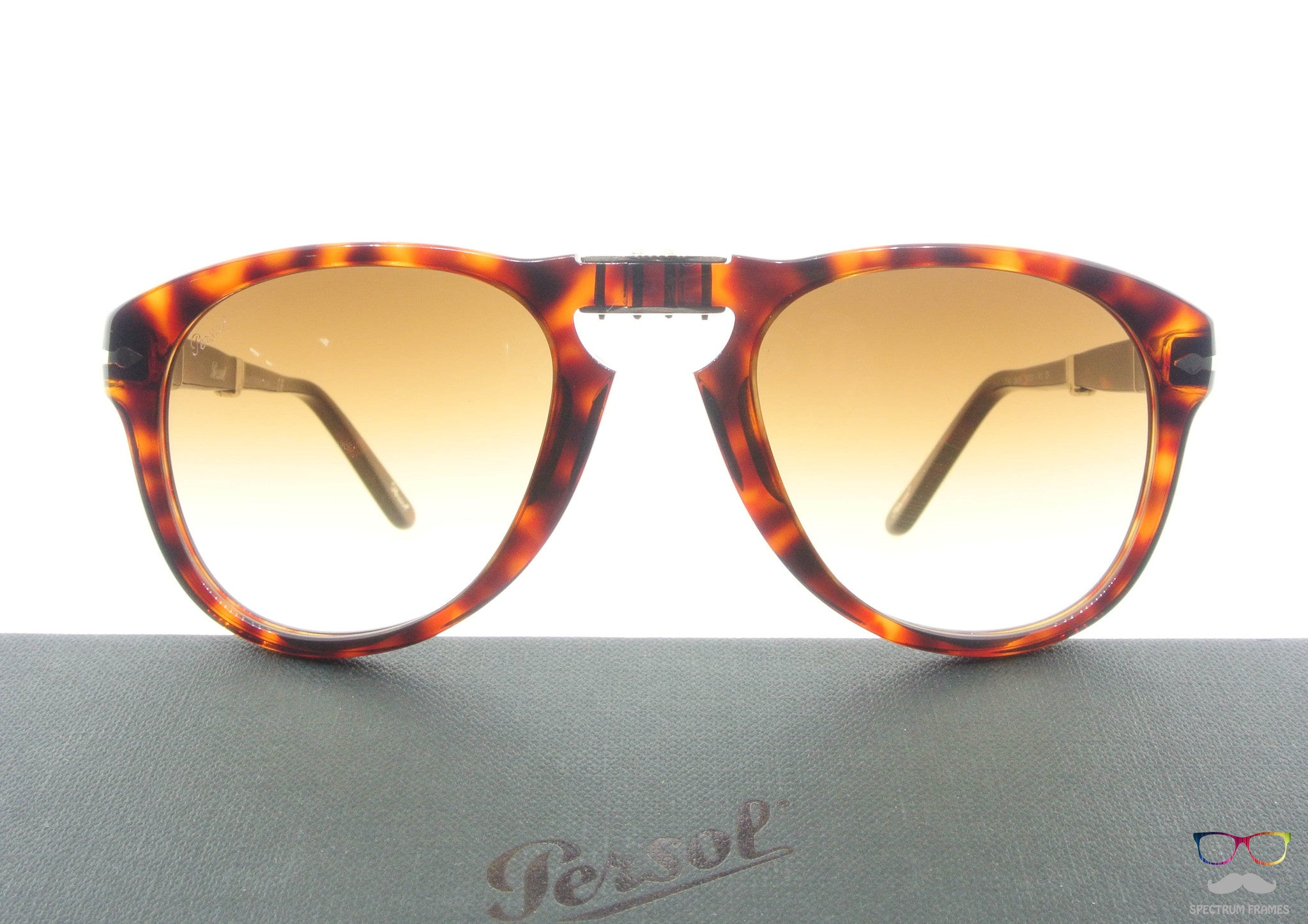 99f30415d44 ... Persol Folding Sunglasses 714 24 51 Havana with Brown Gradient Size 52  ...