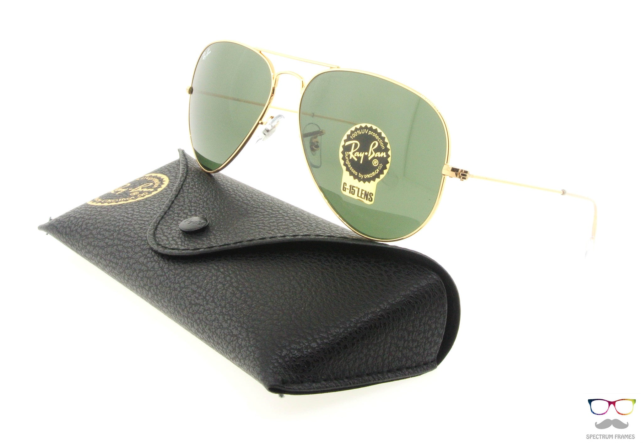 3b21d54050 ... australia ray ban sunglasses rb 3025 l0205 gold with green g15 lens  size 58 637ee 35426