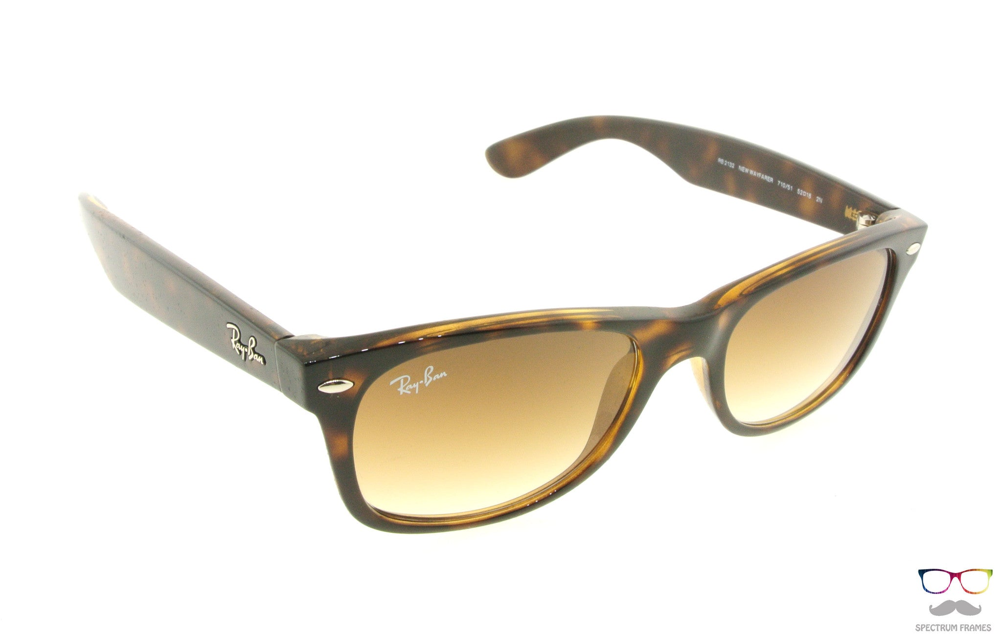 451be69f6a6 ... Ray Ban Sunglasses RB 2132 710 51 Tortoise with Gradient Brown Lenses  Size 52 ...