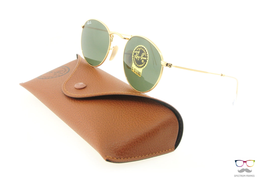 Ray Ban Sunglasses RB 3447 001 Gold with Green G15 Lenses Size 50 6246bea191