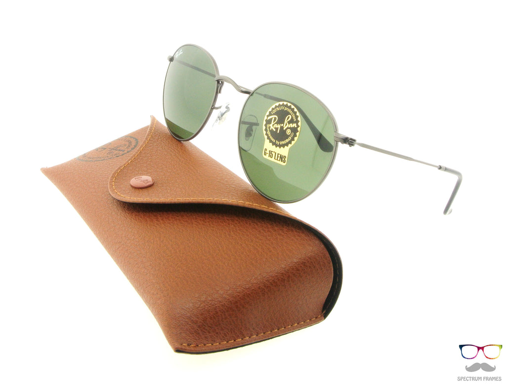 Ray Ban Sunglasses RB 3447 029 Gunmetal with Green G15 Lenses Size 50 d1bc995c1f