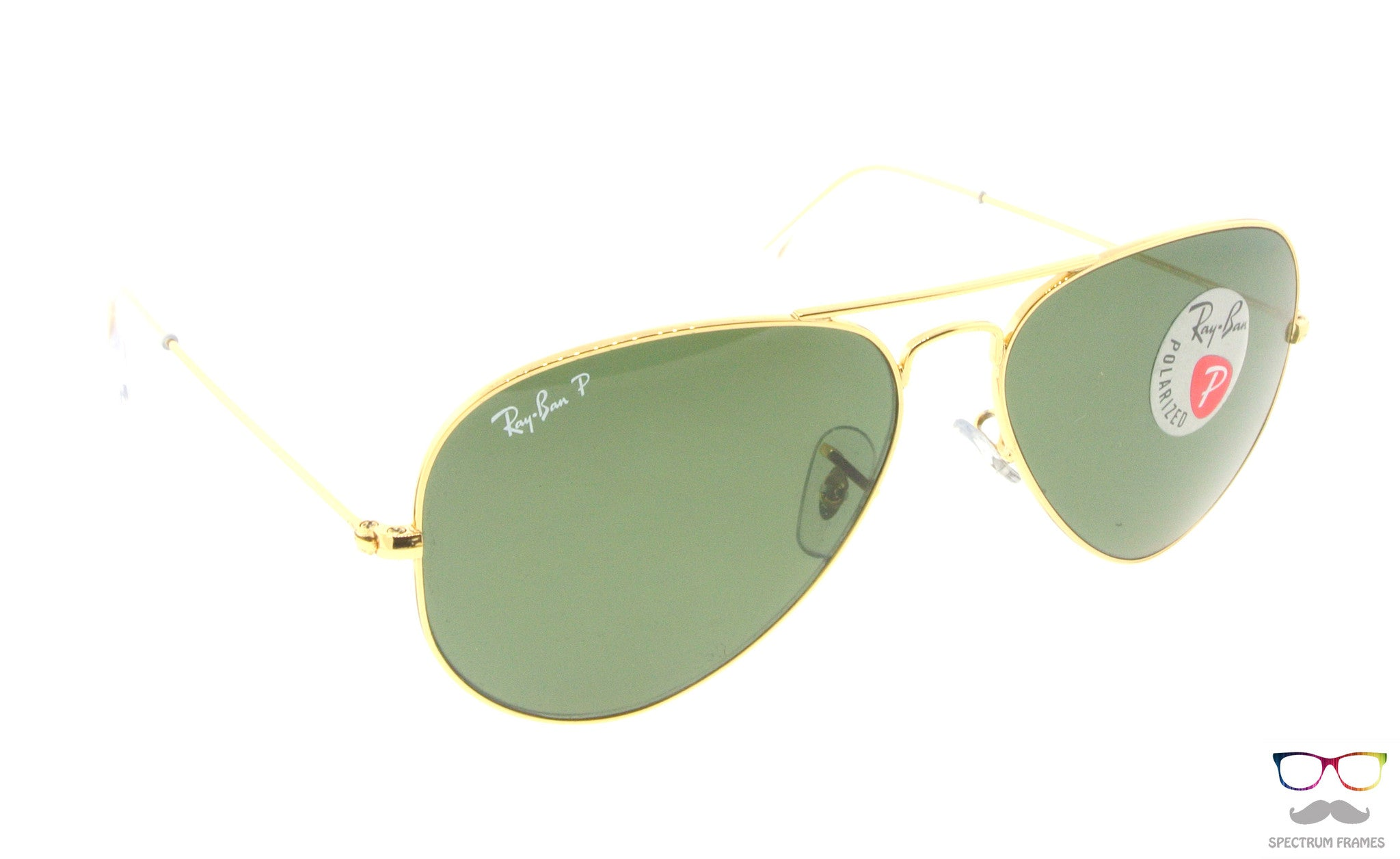 ... Ray Ban Sunglasses RB 3025 001 58 Gold with Green Polarized Lens Size 55  ... 8c18e3b3e1d8