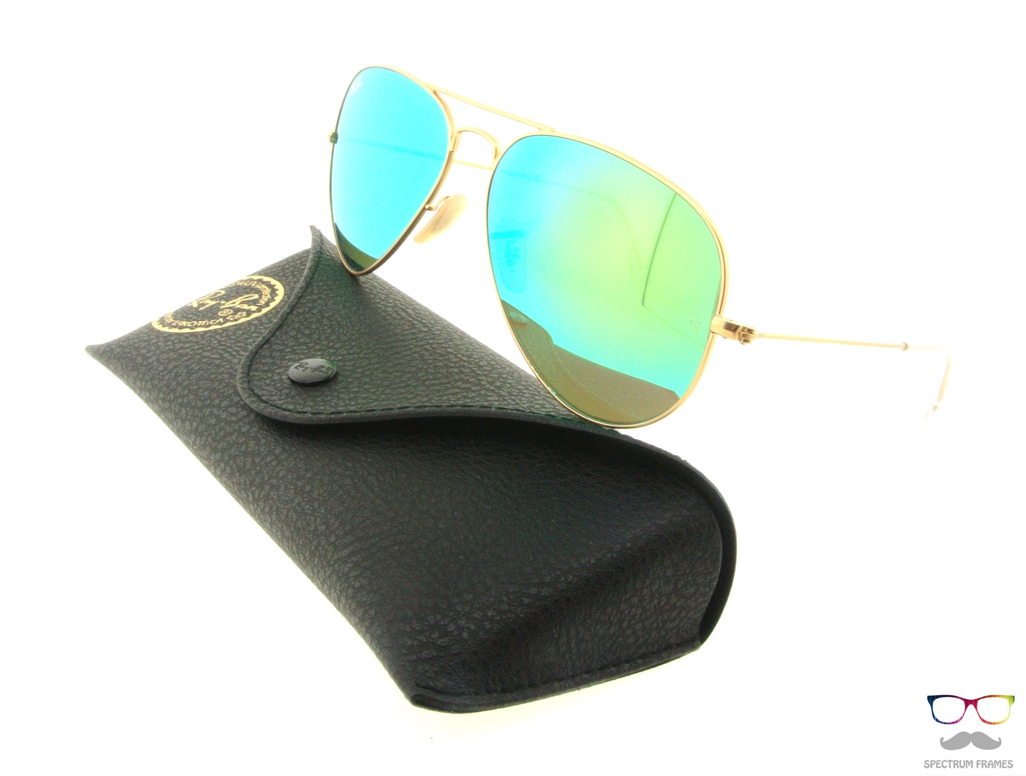 80a340938c ... Ray Ban Sunglasses RB 3025 112 19 Gold with Green Mirrored Lens Size 58  ...