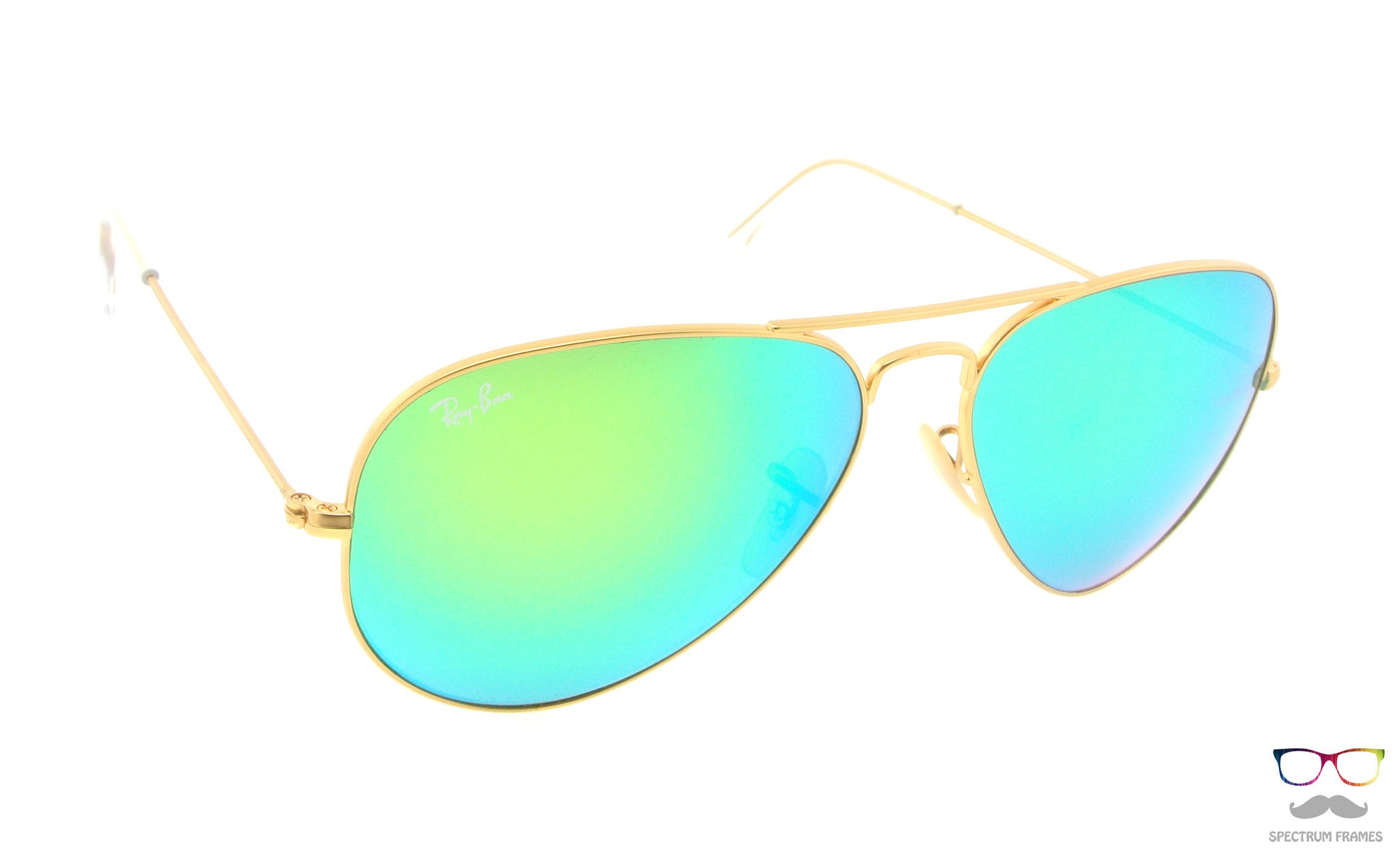 b520086fc4 ... Ray Ban Sunglasses RB 3025 112 19 Gold with Green Mirrored Lens Size 55  ...