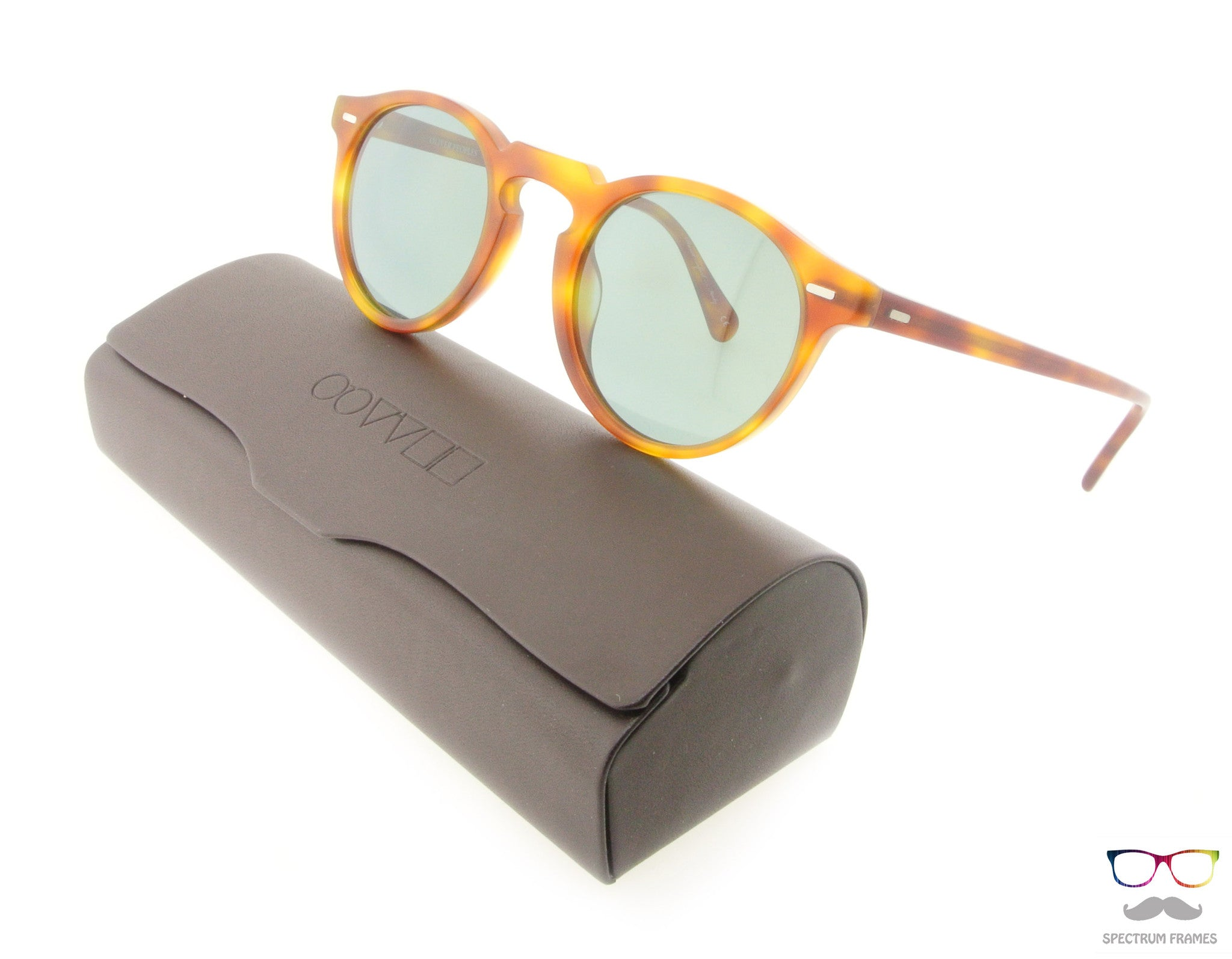 0a3a1381a7 Oliver Peoples Sunglasses Gregory Peck 5217S 1483 R8 Light Havana with Blue  Photo Lenses