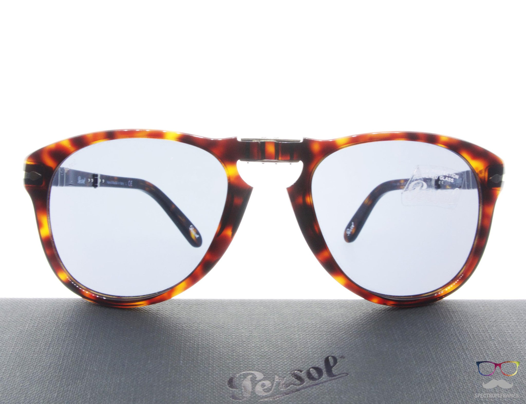 3ad93aafac Persol Folding Sunglasses 714SM 24 56 Havana with Blue Mirrored Lens Size  52 Steve McQueen