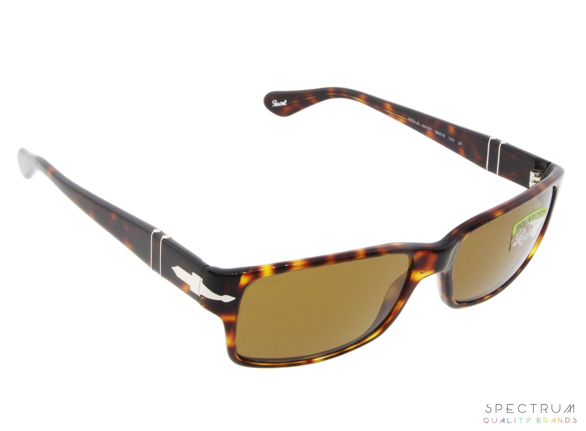 842e6bf987 ... Persol Sunglasses 2803S 24 57 Havana with Brown Polarized Lenses Size 58  ...
