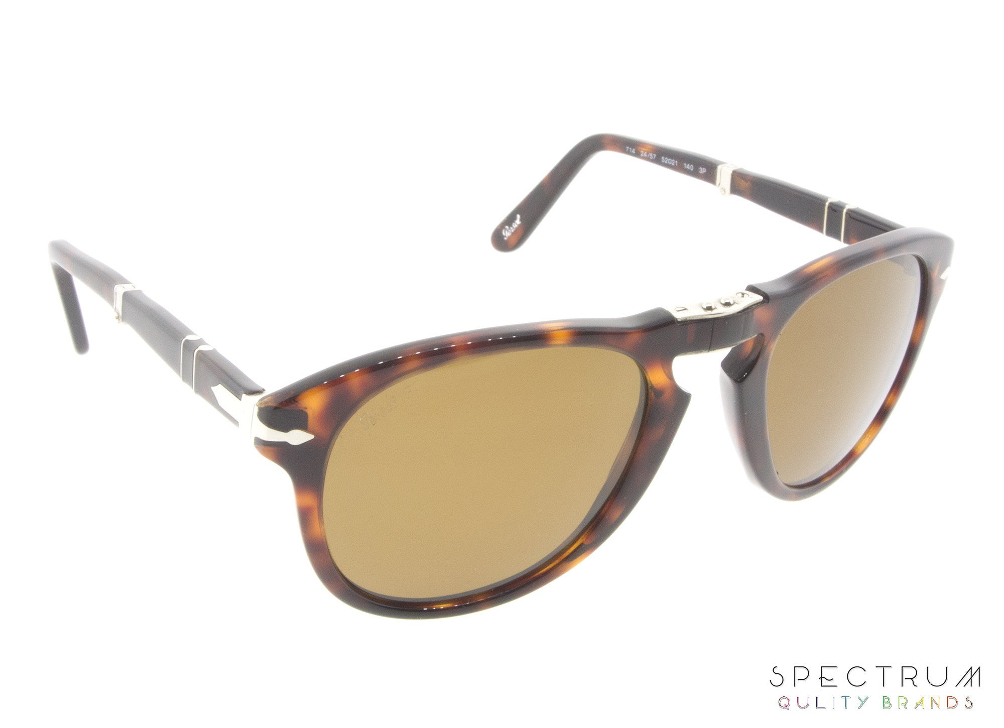 1d4f917ed054 Persol Folding Sunglasses 0714 24/57 Havana with Brown Polarized Lenses  Size 52
