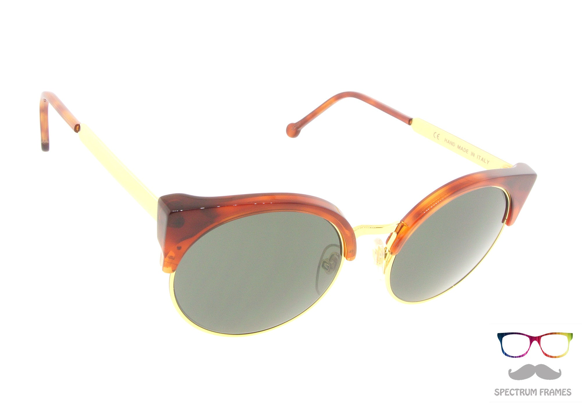 6fe4343cdc5 ... RETROSUPERFUTURE Super Sunglasses Lucia Francis Gold Havana 337 with  Black Lens ...