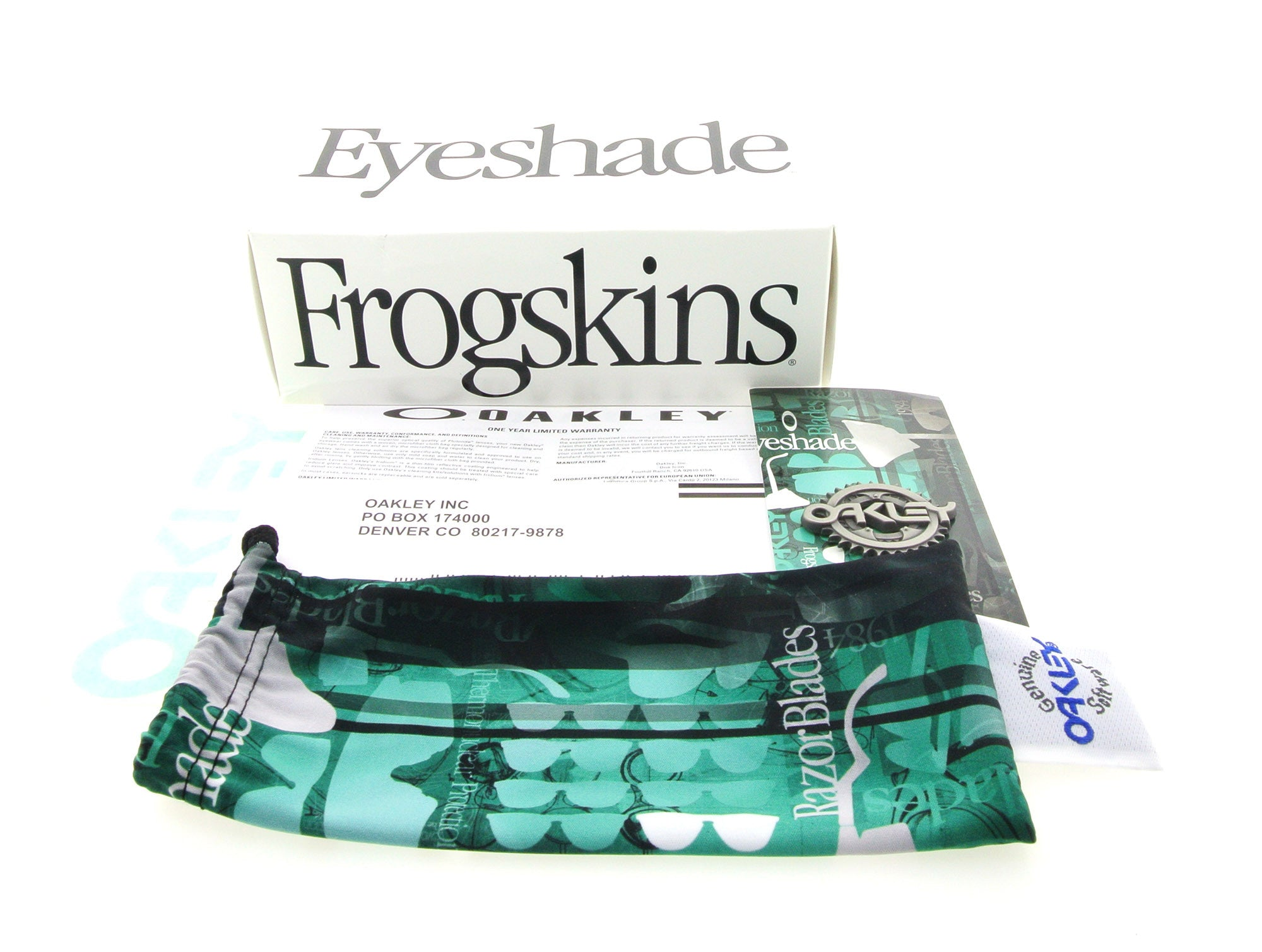 f96f04a6a2 Oakley Sunglasses Frogskins Heritage OO9013 24-417 Seafoam with Grey Lenses  ...
