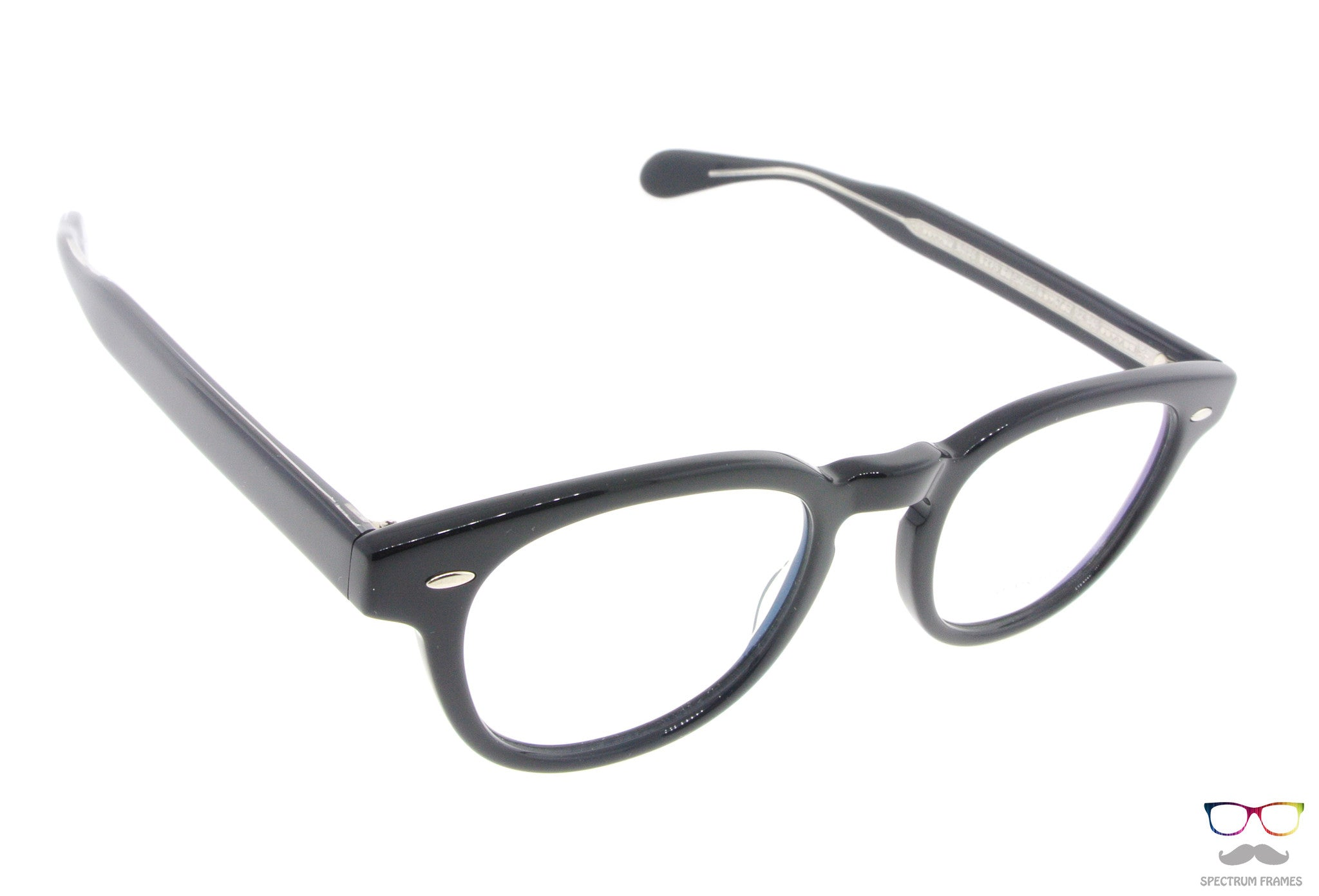 oliver peoples eyeglasses sheldrake 5036 1492 black round acetate frames