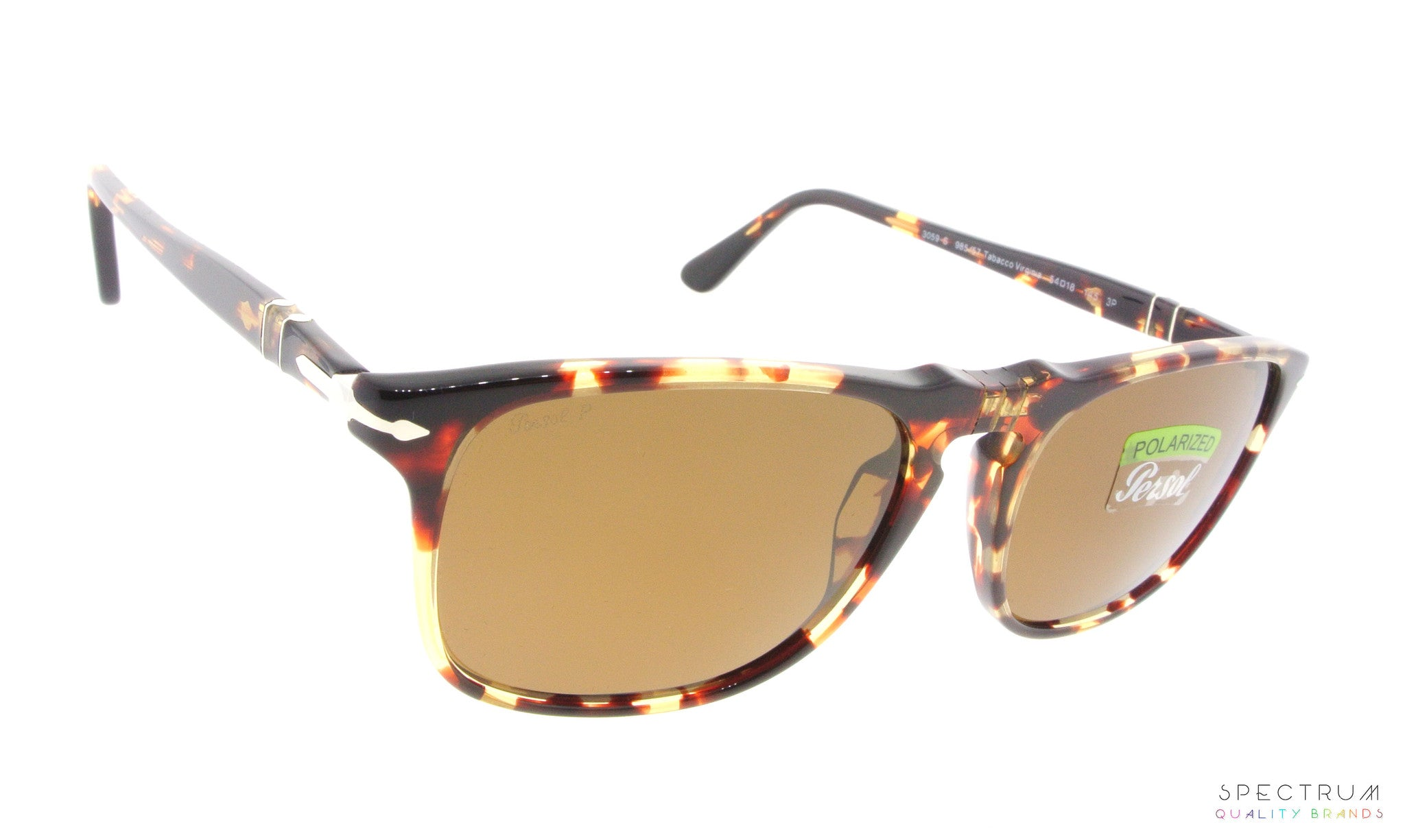 f228d17d97 Persol Sunglasses 3059S 985 57 Tabacco Virginia with Polarized Brown Lenses  Size 54