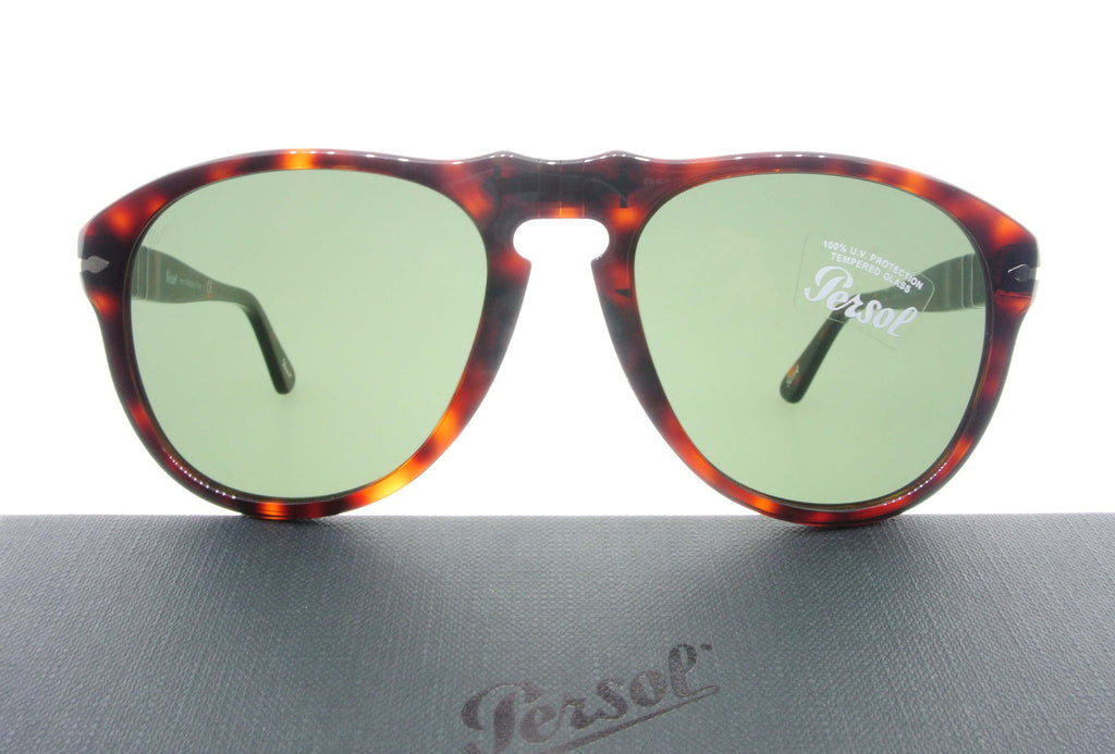 1a130f56f19 Persol Sunglasses 0649 24 31 Havana with Green Lenses Size 56
