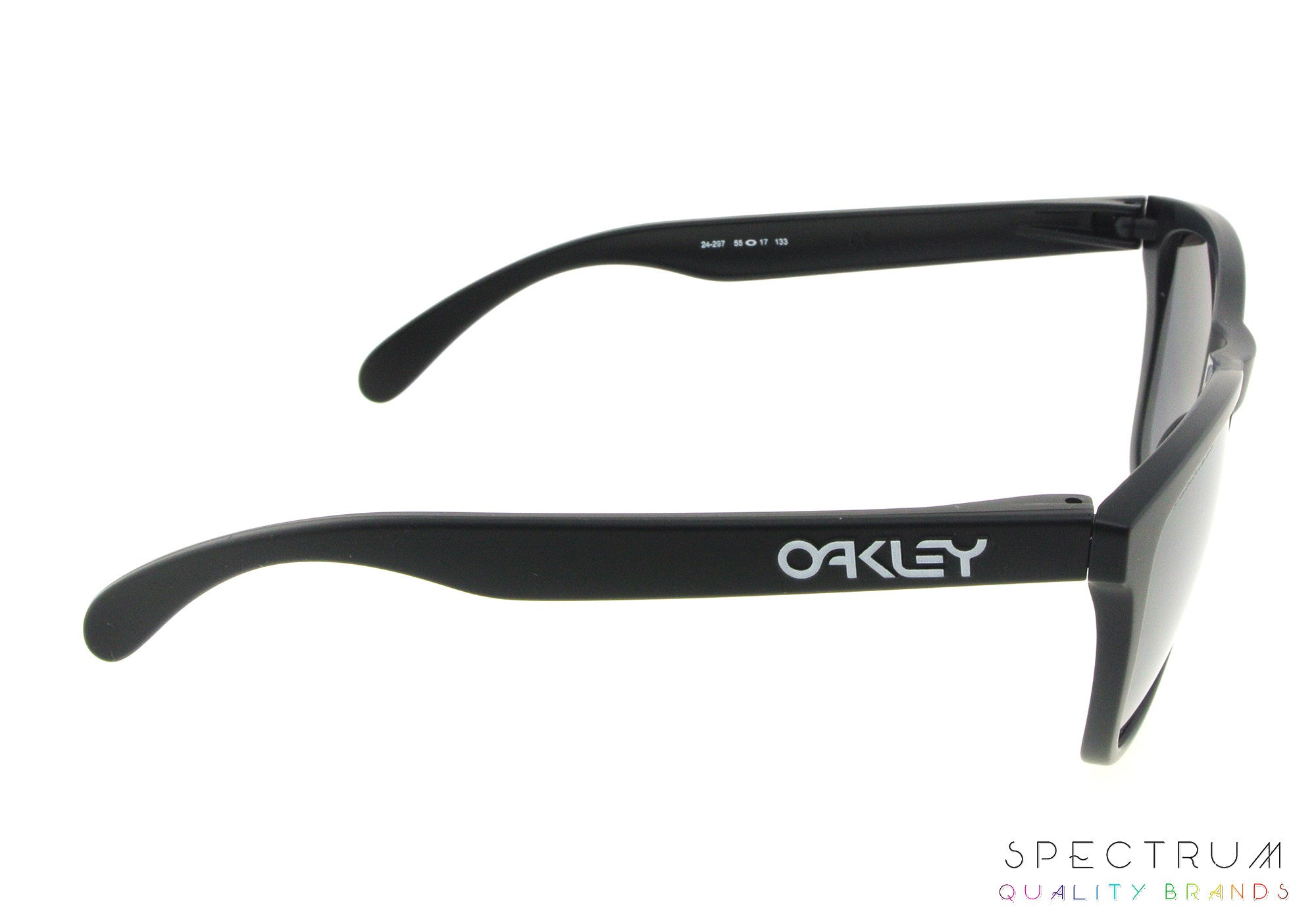 b16d0052abc ... Oakley Polarized Sunglasses Frogskins OO9013 24-297 Matte Black with  Black Iridium Lenses ...