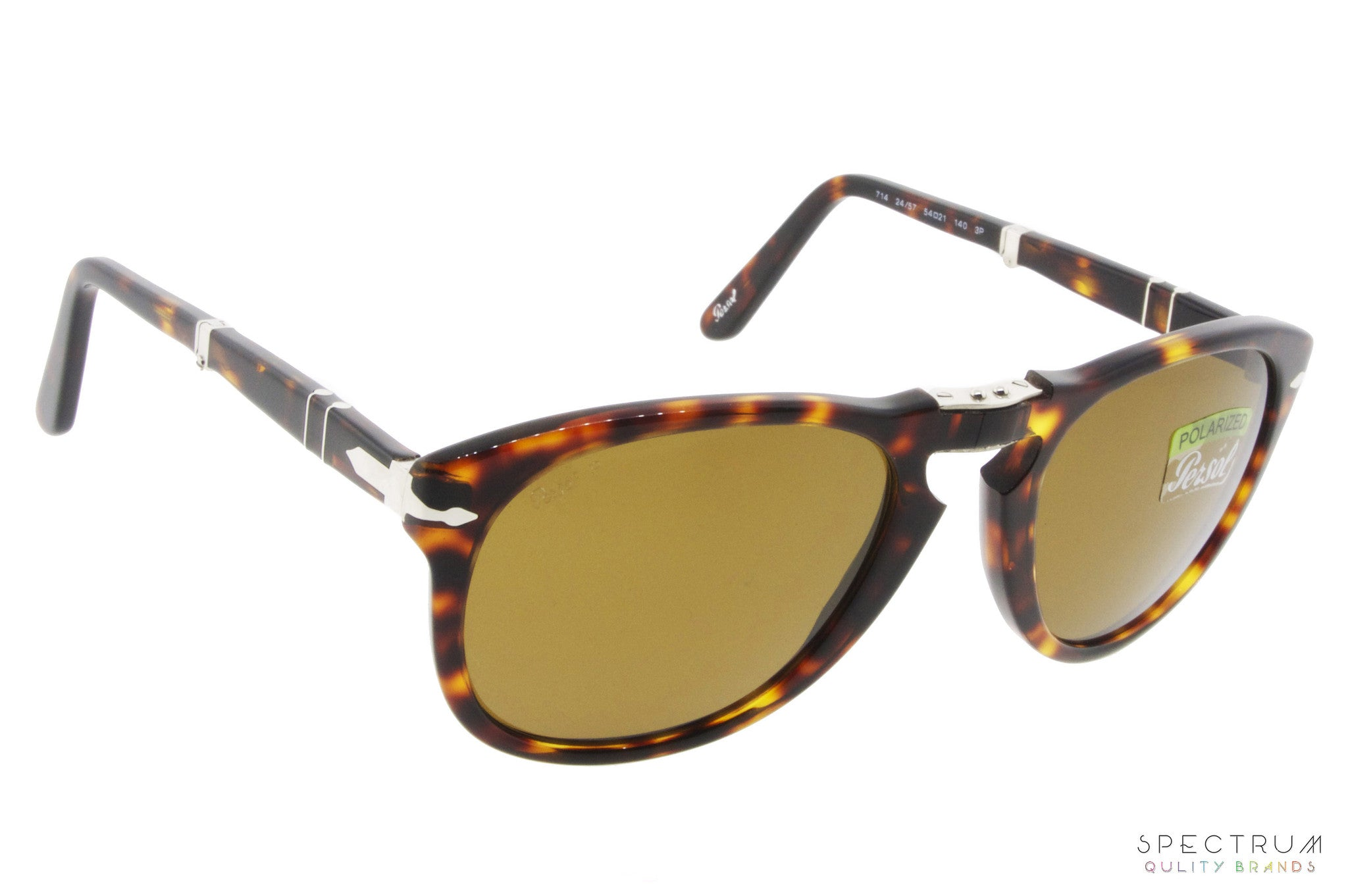 f7943c185b3 Persol Folding Sunglasses 0714 24 57 Havana with Brown Polarized Lenses  Size 54