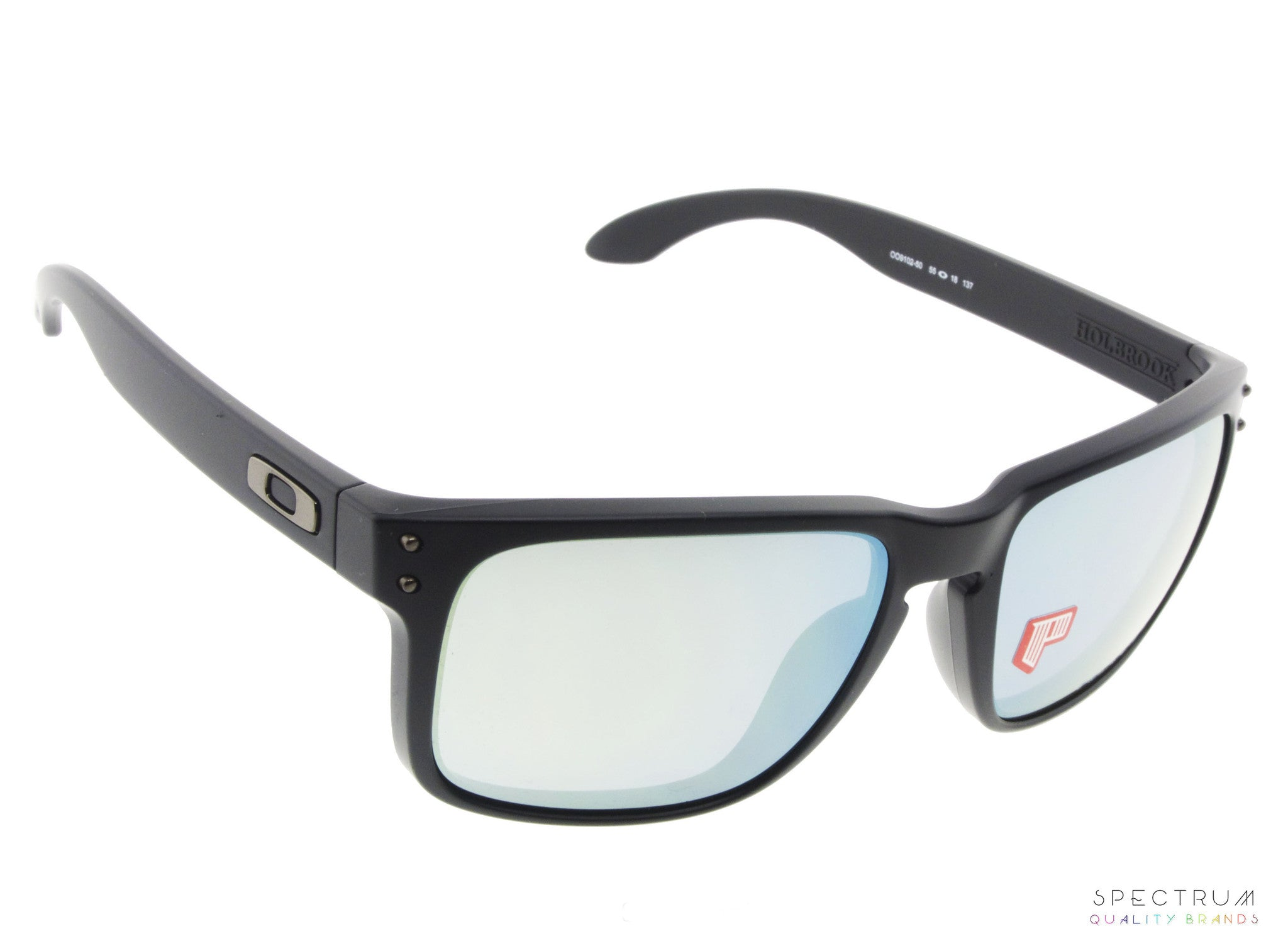 881e0c65dd7 ... Oakley Sunglasses Holbrook OO9102 - 50 Matte Black with Emerald Iridium  Lenses ...