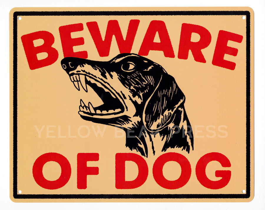 Beware of Dachshund Metal Sign | YBP X Mike Suarez