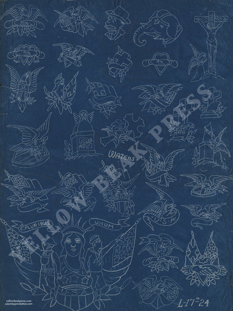 Percy waters blueprint poster print 6 yellow beak press malvernweather Images