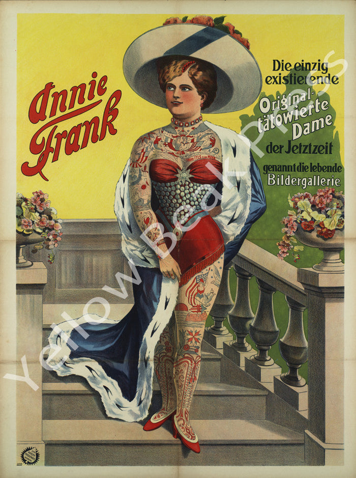 "Vintage Annie Frank ""Living Picture Gallery"" Poster Print"