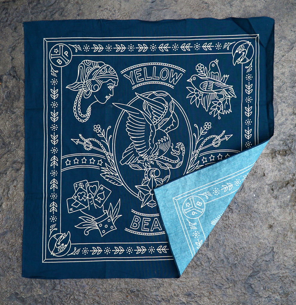 Yellow Beak Press Blue Bandana