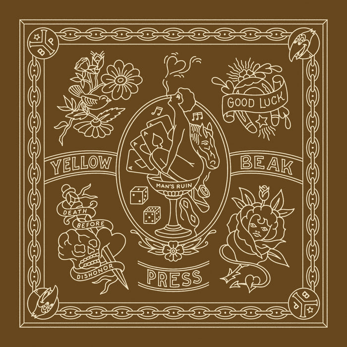 Yellow Beak Press Brown Bandana