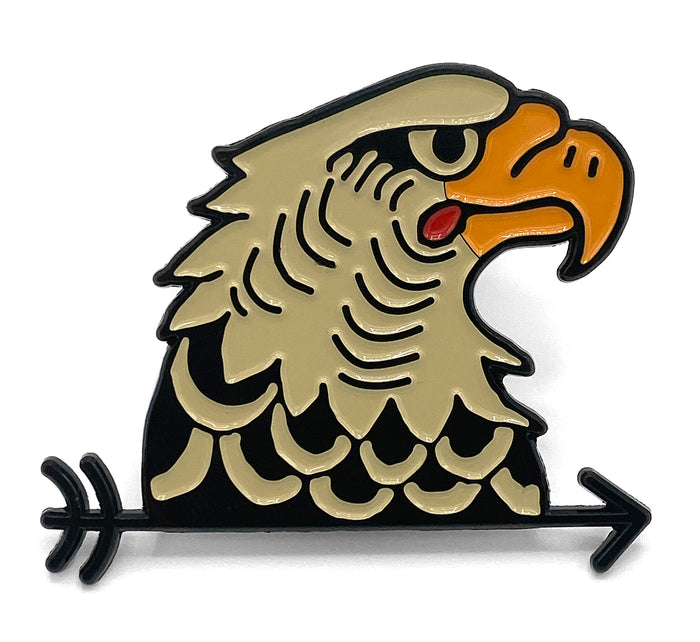 Eagle Head Enamel pin