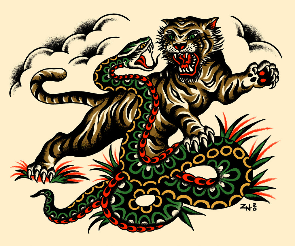 Tiger and Snake / Zach Nelligan Banner