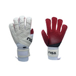 NGA 2020 Aura Goalkeeper Glove, White/Red