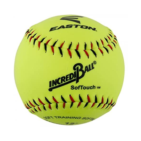 "Easton 12"" Neon SoftTouch Training Softballs"