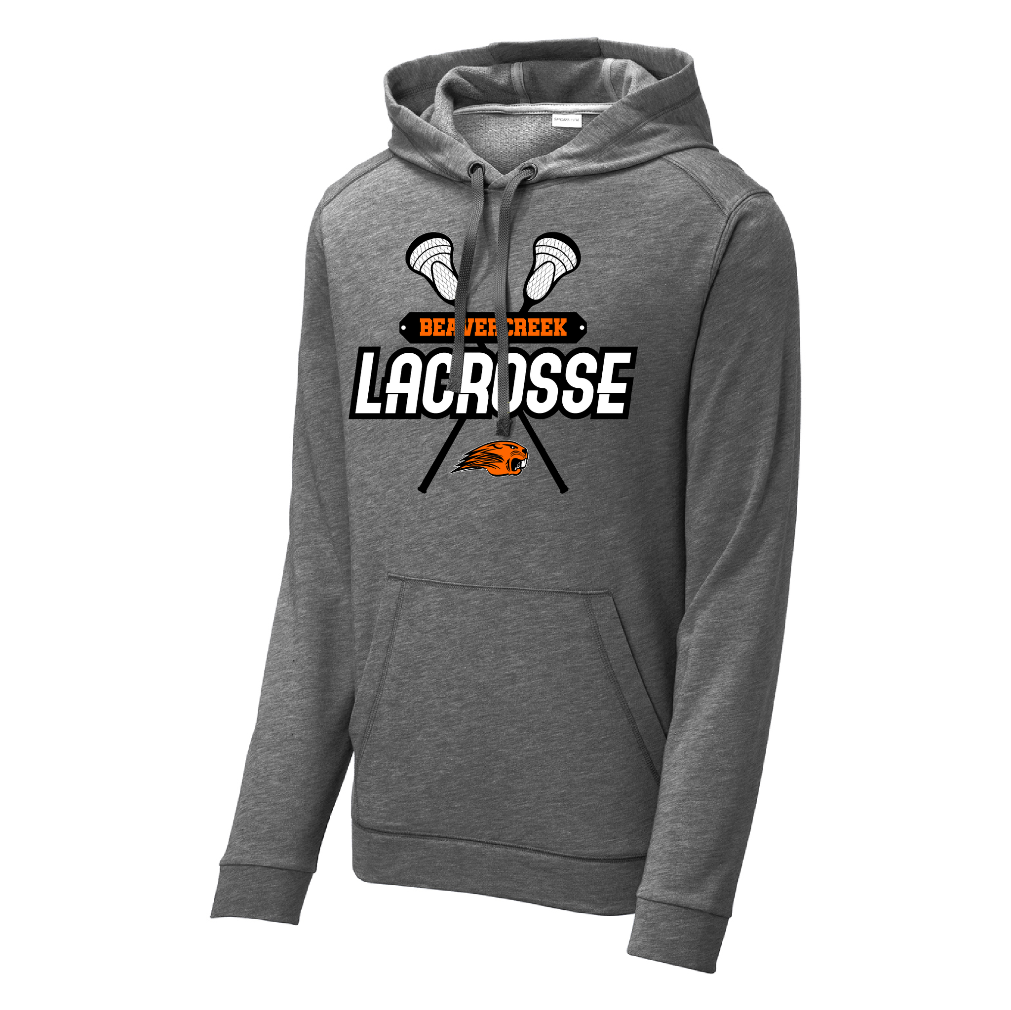 Beavercreek Lacrosse Club Tri-Blend Wicking Fleece Hooded Pullover