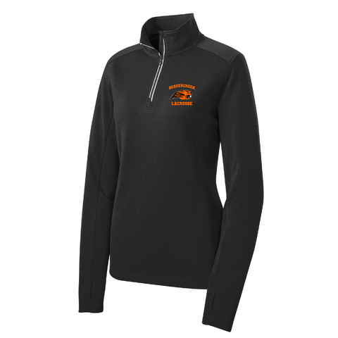 Beavercreek Lacrosse Club Ladies Textured 1/4-Zip Pullover