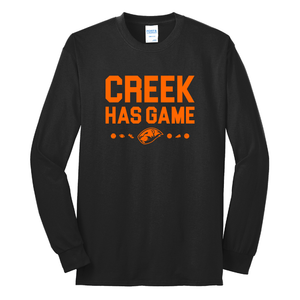 Coy Middle School Creek Has Game Long Sleeve T-Shirt