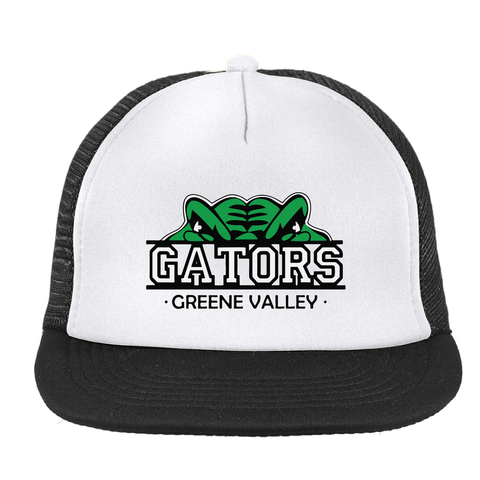Greene Valley Gators Flat Bill Snapback Trucker Cap