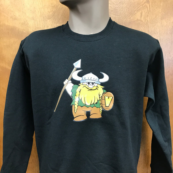 Valley Vikings Mascot Crew Neck Sweatshirt
