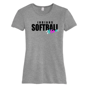 Riverside Indians Softball Mom T-Shirt