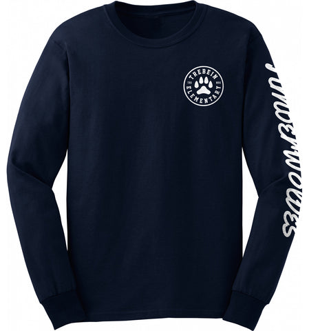 Trebein Elementary Timberwolves Long Sleeve T-Shirt