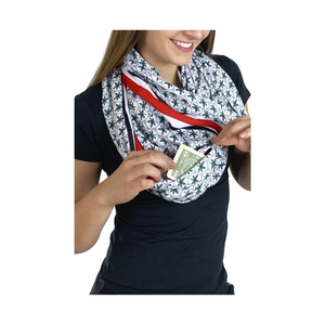 Ohio State Game Day Buckeye Pocket Infinity Scarf