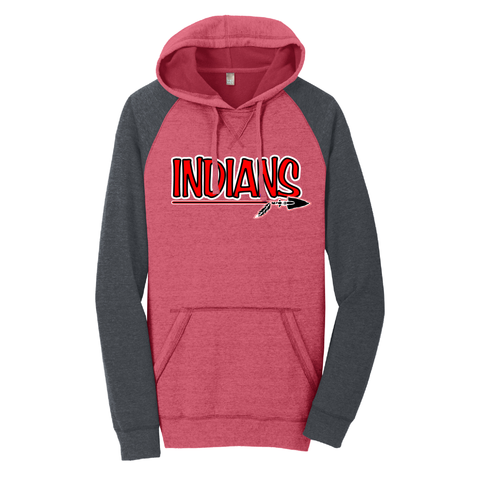 Riverside Indians Baseball  Lightweight Fleece Raglan Hoodie