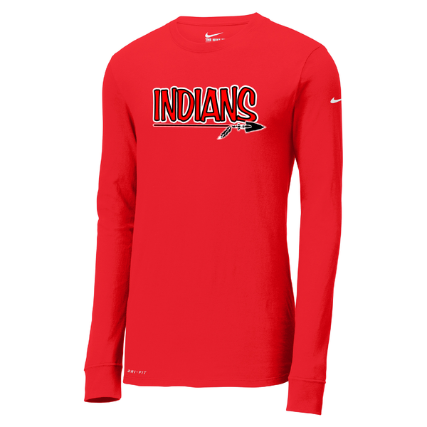 Riverside Indians Baseball Nike Dri-FIT Long Sleeve T-Shirt