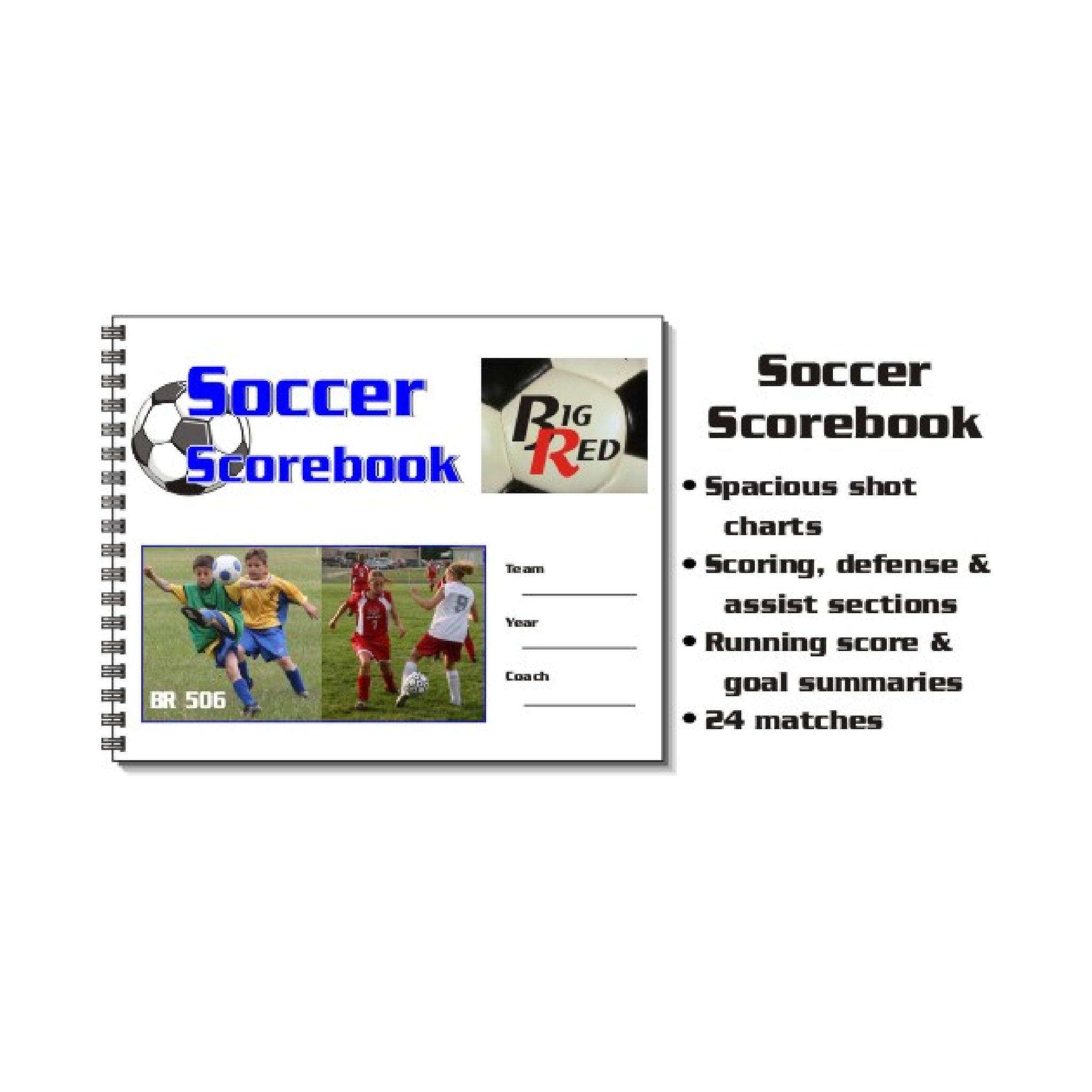 Big Red Soccer Scorebook