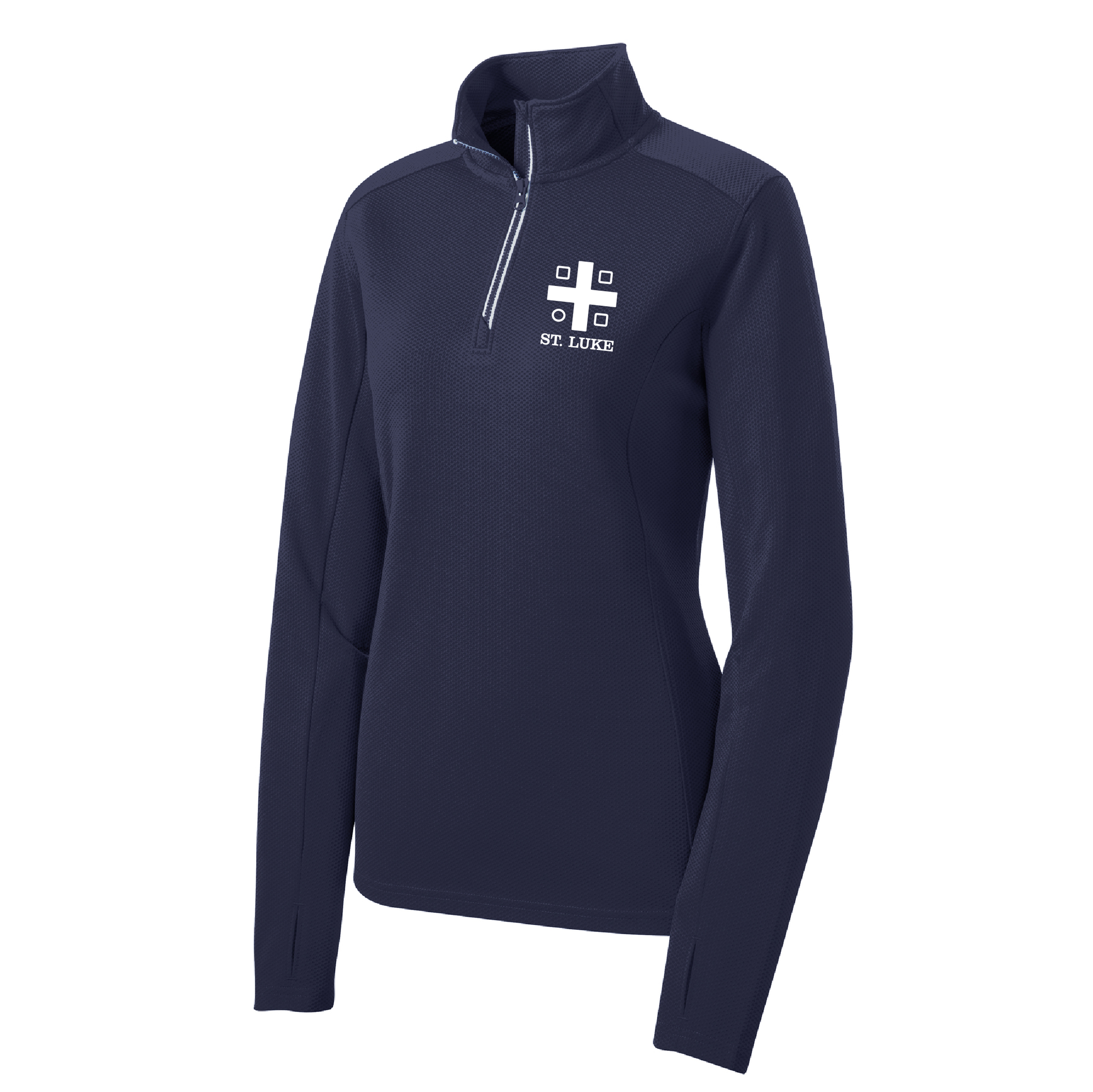 St. Luke Ladies Sport-Wick Textured 1/4-Zip Pullover