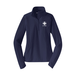 St. Luke Ladies Sport-Wick 1/4-Zip Pullover