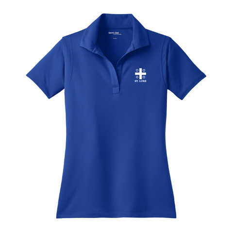St. Luke Lion Ladies Polo Shirt - Cross